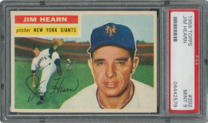 1956 Topps #202 Jim Hearn - PSA MINT 9 - one Higher!