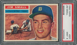 1956 Topps #207 Jim Small - PSA MINT 9 - None Higher!