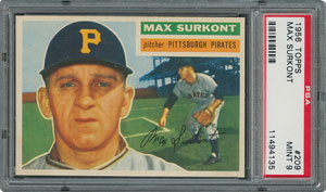 1956 Topps #209 Max Surkont - PSA MINT 9 - one Higher!