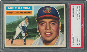 1956 Topps #210 Mike Garcia - PSA MINT 9 - two Higher!