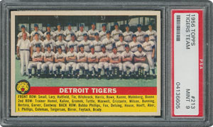 1956 Topps #213 Tigers Team - PSA MINT 9 - None Higher!