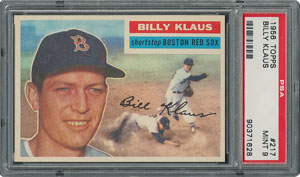 1956 Topps #217 Billy Klaus - PSA MINT 9 - None Higher!
