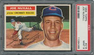1956 Topps #218 Joe Nuxhall - PSA MINT 9 - None Higher!