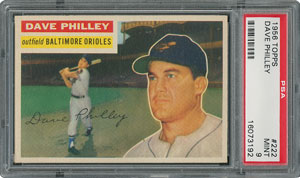 1956 Topps #222 Dave Philley - PSA MINT 9 - two Higher!