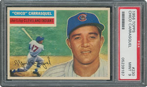 1956 Topps #230 Chico Carrasquel - PSA MINT 9 - one Higher!