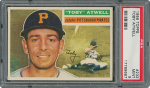 1956 Topps #232 Toby Atwell - PSA MINT 9 - None Higher!