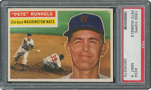 1956 Topps #234 Pete Runnels - PSA MINT 9 - two Higher!