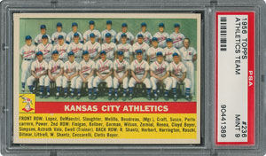 1956 Topps #236 Athletics Team - PSA MINT 9 - None Higher!