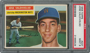 1956 Topps #237 Jose Valdivielso - PSA MINT 9 - one Higher!