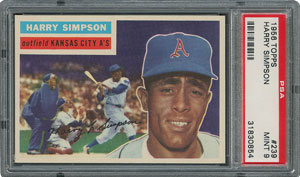 1956 Topps #239 Harry Simpson - PSA MINT 9 - one Higher!