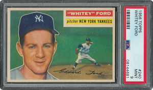 1956 Topps #240 Whitey Ford - PSA MINT 9 - None Higher!