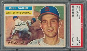 1956 Topps #247 Bill Sarni - PSA MINT 9 - two Higher!