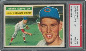 1956 Topps #249 Johnny Klippstein - PSA MINT 9 - two Higher!