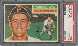 1956 Topps #252 Vernon Law - PSA MINT 9 - None Higher!