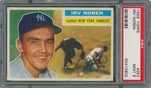 1956 Topps #253 Irv Noren - PSA MINT 9 - None Higher!