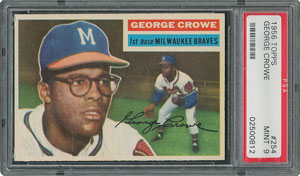 1956 Topps #254 George Crowe - PSA MINT 9 - None Higher!