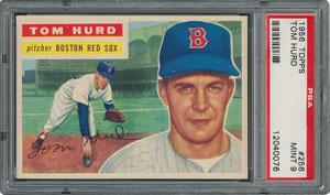 1956 Topps #256 Tom Hurd - PSA MINT 9 - None Higher!