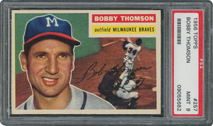 1956 Topps #257 Bobby Thomson - PSA MINT 9 - None Higher!
