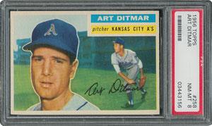 1956 Topps #258 Art Ditmar - PSA NM-MT 8