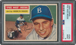 1956 Topps #260 Pee Wee Reese - PSA MINT 9 - None Higher!