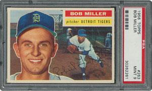 1956 Topps #263 Bob Miller - PSA MINT 9 - None Higher!