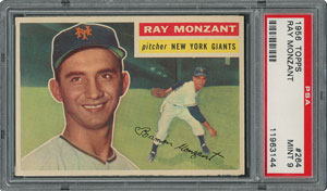 1956 Topps #264 Ray Monzant - PSA MINT 9 - None Higher!