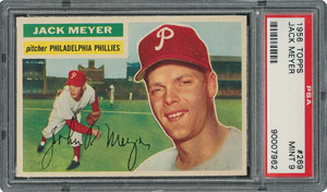 1956 Topps #269 Jack Meyer - PSA MINT 9 - one Higher!