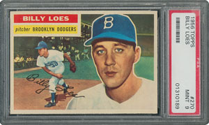 1956 Topps #270 Billy Loes - PSA MINT 9 - None Higher!
