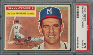 1956 Topps #272 Danny O'Connell - PSA MINT 9 - one Higher!