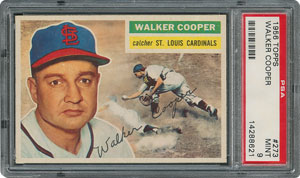 1956 Topps #273 Walker Cooper - PSA MINT 9 - None Higher!