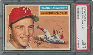 1956 Topps #274 Frank Baumholtz - PSA MINT 9 - one Higher!