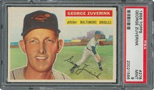 1956 Topps #276 George Zuverink - PSA MINT 9 - None Higher!