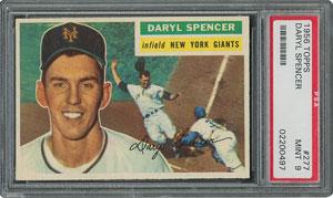 1956 Topps #277 Daryl Spencer - PSA MINT 9 - one Higher!