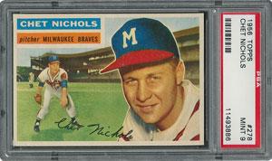 1956 Topps #278 Chet Nichols - PSA MINT 9 - None Higher!