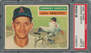 1956 Topps #279 Johnny Groth - PSA MINT 9 - two Higher!