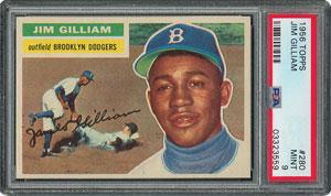 1956 Topps #280 Jim Gilliam - PSA MINT 9 - None Higher!