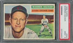 1956 Topps #282 Warren Hacker - PSA MINT 9 - None Higher!