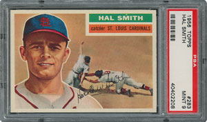 1956 Topps #283 Hal Smith - PSA MINT 9 - None Higher!