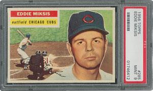 1956 Topps #285 Eddie Miksis - PSA MINT 9 - None Higher!