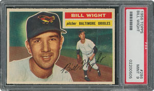 1956 Topps #286 Bill Wight - PSA MINT 9 - one Higher!