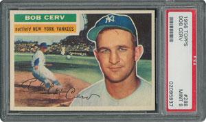 1956 Topps #288 Bob Cerv - PSA MINT 9 - two Higher!