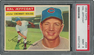 1956 Topps #289 Hal Jeffcoat - PSA MINT 9 - None Higher!