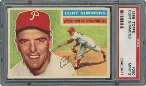 1956 Topps #290 Curt Simmons - PSA MINT 9 - None Higher!