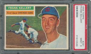 1956 Topps #291 Frank Kellert - PSA MINT 9 - one Higher!