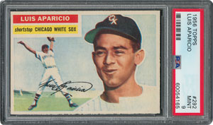 1956 Topps #292 Luis Aparicio - PSA MINT 9 - two Higher!