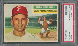 1956 Topps #296 Andy Seminick - PSA MINT 9 - None Higher!