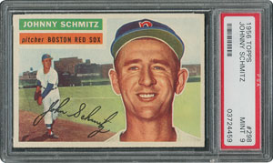 1956 Topps #298 Johnny Schmitz - PSA MINT 9 - one Higher!