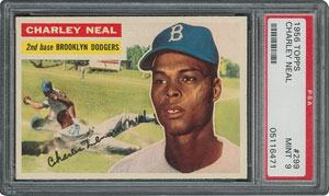 1956 Topps #299 Charley Neal - PSA MINT 9 - one Higher!