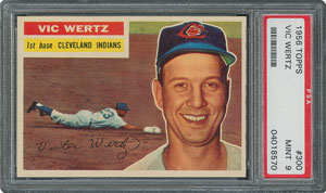 1956 Topps #300 Vic Wertz - PSA MINT 9 - None Higher!