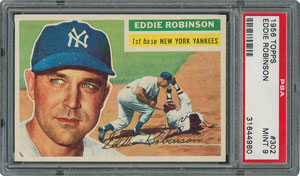 1956 Topps #302 Eddie Robinson - PSA MINT 9 - None Higher!